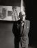 Le Corbusier (Charles-Edouard Jeanneret, dit, 1887-1965), architecte et urbaniste suisse, dans son atelier, 1955. Photographie de Franz Hubmann (1914-2007). © Franz Hubmann / Imagno / Roger-Viollet