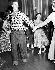 Le prince Philip (né en 1921), duc d'Edimbourg dansant avec une jeune femme. Ottawa (Canada), 15 octobre 1951. © TopFoto / Roger-Viollet