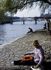Woman listening to her phonograph, on the quays of the river Seine. Paris, 1960-1970. Photograph by Gösta Wilander (1896-1982). Paris, musée Carnavalet. © Gösta Wilander / Musée Carnavalet / Roger-Viollet