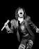 Mick Jagger (né en 1943), musicien et chanteur anglais, membre du groupe Rolling Stones, lors d'un concert. Knebworth (Angleterre), 22 août 1976. © PA Archive / Roger-Viollet