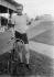 Lucien Petit-Breton (1882-1917), coureur cycliste français, vainqueur du Tour de France en 1907-1908. 1912. © Maurice-Louis Branger/Roger-Viollet