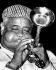 Dizzy Gillespie (1917-1993), musicien, chanteur et chef d'orchestre de jazz américain. New York, club de jazz Birdland, 1949. Photo : Herb Snitzer. © Herb Snitzer / TopFoto / Roger-Viollet