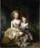 """Elisabeth Vigée Le Brun (1755-1842). """"Marie-Thérèse dite Madame Royale (1778-1851) et son frère le dauphin Louis Joseph (1781-1789), en 1787"""". Musée de Versailles. © Roger-Viollet"""