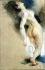 """Eugène Delacroix (1798-1863). Etude de femme nue renversée en arrière pour """"La Mort de Sardanapale"""". Pastel, sanguine et craie sur papier bis, 1827. Paris, musée Delacroix (dépôt du musée du Louvre). © Roger-Viollet"""