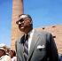 Louxor (Egypte). Le président Gamal Abdel Nasser au temple de Karnak. © TopFoto / Roger-Viollet