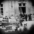 Rencontre entre Christian Pineau, ministre des Affaires étrangères français et John Foster Dulles, secrétaire d'Etat américain. La Celle-Saint-Cloud (Yvelines), 4 mai 1958.   © Roger-Viollet