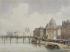 """François-Etienne Villeret (1800-1866). """"La Seine et l'Institut et le Pont des Arts"""". Paris, musée Carnavalet. © Musée Carnavalet/Roger-Viollet"""