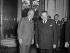 Joseph Laniel (1889-1975) et John Foster Dulles (1888-1959) à l'hôtel  Matignon. Paris, avril 1954. © Roger-Viollet