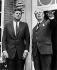 John Kennedy (1917-1963), homme d'Etat américain, et Harold Macmillan (1894-1986), Premier ministre britannique. Sussex (Angleterre), 3 juin 1963. © PA Archive / Roger-Viollet