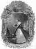 """Lucile de Chateaubriand (1764-1804), soeur de l'écrivain, levant les yeux sur une glace peu avant le 10 août 1792, s'écrie : """"Je viens de voir entrer la mort"""". Illustration pour """"Mémoires d'outre-tombe"""" de François-René de Chateaubriand, Livre III, chapitre 4. Gravure de F. Delannoy d'après G. Staal. © Roger-Viollet"""