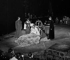 """Jacques Brel dans """"L'Homme de la Mancha"""" de Dale Wassermann.  Adaptation de Jacques Brel et mise en scène d'Albert Marre. Paris, Théâtre des Champs-Elysées, 1969. © Roger-Viollet"""