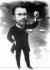 Raymond Poincaré (1860-1934), ministre des Finances (mai 1894-janvier 1895) proposant un budget en équilibre. Caricature de Grün. © Albert Harlingue/Roger-Viollet