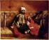"""Eugène Delacroix (1798-1863). """"Turc fumant, assis sur un divan"""". Huile sur toile, vers 1825. Paris, musée du Louvre. © Roger-Viollet"""