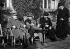 Traité de Versailles. Ferdinand Foch (1851-1929), maréchal français, Lloyd George (1863-1945), homme d'Etat britannique, et Aristide Briand (1862-1932), homme politique français. Versailles (Yvelines), février 1921. © Ullstein Bild/Roger-Viollet