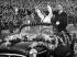 Valentina Terechkova (née en 1937), cosmonaute soviétique, lors des huitièmes de finale du Championnat d'Europe des Nations opposant l'Allemagne de l'Est à la Hongrie. Berlin-Est (Allemagne de l'Est), 19 octobre 1963. © Ullstein Bild/Roger-Viollet