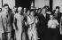 Jawâharlâl Nehru, président de l'Union indienne et sa fille Indîrâ Gândhi, femme politique indienne. Yalta (Ukraine), palais de Livadia, 1955. © Roger-Viollet