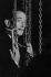 Salvador Dali (1904-1989), peintre et graveur espagnol, à la Fonderie Susse. Montrouge (Hauts-de-Seine), 1964. Photographie de Jean Marquis (né en 1926). © Jean Marquis/Roger-Viollet