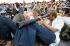 Participants au festival de Woodstock (New York), 1969.  © Tom Miner/The Image Works/Roger-Viollet