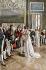 Joséphine de Beauharnais (née Marie-Josèphe Tascher de la Pagerie, 1763-1814), épouse de Napoléon Bonaparte, recevant des ambassadeurs aux Tuileries. © Roger-Viollet