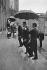 21ème Sommet franco-allemand, entre Georges Pompidou (1911-1974), président de la République française, et Willy Brandt (1913-1992), Chancelier fédéral ouest-allemand. Willy Brandt arrivant à l'Elysée. Paris (VIIIème arr.), novembre 1973. © Jacques Cuinières / Roger-Viollet