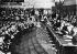 Jubilé de Louis Lumière (1864-1948), chimiste et industriel français, pionnier du cinéma, à la Sorbonne. Paris, 6 novembre 1935. © Jacques Boyer / Roger-Viollet