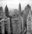 Chicago (Illinois, Etats-Unis). La ville vue de l'hôtel Sheraton. Avril 1964. © Hélène Roger-Viollet et Jean Fischer / Roger-Viollet