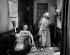 """Assassinat de Marat par Charlotte Corday. Scène de """"Napoléon"""", film d'Abel Gance. Antonin Artaud et Marguerite Gance. 1925. © Roger-Viollet"""