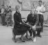 """Melina Mercouri (1920-1994), actrice et femme politique grecque, et Jules Dassin (1911-2008), acteur et cinéaste américain, lors du tournage de """"Phaedra"""". Londres (Angleterre), 9 juin 1961. © TopFoto / Roger-Viollet"""