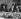 Dîner au Quai d'Orsay pour Kiesinger et Willy Brandt. Michel Debré, Kurt Georg Kiesinger et Georges Pompidou (1911-1974). Paris, 15 février 1968.  © Roger-Viollet