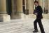 Jack Lang (né en 1939), Ministre d'État et Ministre de l'Éducation nationale et de la Culture sous le gouvernement Bérégovoy, arrivant au conseil des Ministres. Paris, 8 avril 1992. © Jean-Paul Guilloteau/Roger-Viollet