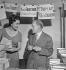 Book fair of veteran writers. Maurice Genevoix (1890-1980), French writer. Paris, 1960. © Boris Lipnitzki / Roger-Viollet