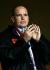 Le prince Albert de Monaco (né en 1958), assistant à la demi-finale de la Ligue des Champions UEFA de football, opposant Monaco à Chelsea. Stade Louis II de Monaco (Principauté de Monaco), 20 avril 2004. © Tommy Hindley / TopFoto / Roger-Viollet