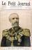 """Henri Meyer (1844-1899). Oscar II (1829-1907), roi de Suède et de Norvège, en visite en France en mars 1899. Dessin paru dans """"Le Petit Journal"""", 26 mars 1899. © Roger-Viollet"""