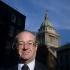 Sir John Clifford Mortimer (1923-2009), avocat, auteur dramatique et dramaturge anglais. 1986. Photo : John Timbers.  © John Timbers / TopFoto / Roger-Viollet