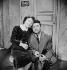"""Edith Piaf et Robert Lamoureux dans """"La P'tite Lily"""" de Marcel Achard. Paris, théâtre de l'ABC, mars 1951. © Boris Lipnitzki / Studio Lipnitzki / Roger-Viollet"""