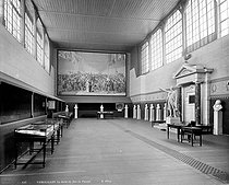Versailles (Yvelines). The Tennis Court room with the painting of the Tennis Court Oath, by Jacques-Louis David (1748-1825). © Neurdein/Roger-Viollet