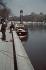 """World War II. The """"Travail"""" tugobat along the banks of the Seine, Paris. Photograph by André Zucca (1897-1973). Bibliothèque historique de la Ville de Paris. © André Zucca / BHVP / Roger-Viollet"""