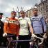 Jacques Anquetil, Eddy Merckx, Felice Gimondi, coureurs cyclistes, tous trois vainqueurs du Tour de France. © Roger-Viollet
