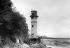 Canal de Panama. Construction du phare à l'entrée du canal du Pacifique. 1912. © Jacques Boyer / Roger-Viollet