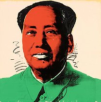 "Andy Warhol (1928-1987). ""Mao Zedong (1893-1976), homme d'Etat chinois"", 1972. Collection privée. © TopFoto / Roger-Viollet"