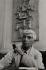 Ossip Zadkine (1890-1967), sculpteur français d'origine russe, au 100 bis rue d'Assas. Paris, 1961.  © Jean Mounicq/Roger-Viollet