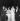 """L'Aga Khan III, la Bégum et Rosella Hightower (1920-2008) lors d'une représentation du """"Moulin Enchanté"""" par le Ballet de Monte-Carlo. Octobre 1949. © Studio Lipnitzki / Roger-Viollet"""