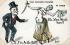 """Doux souvenir d'Algérie. Au Harem. """"Elle. Viens Mimile Viens !!! L..ui T'en As Un Oeil !!!"""". Caricature d'Emile Loubet (1838-1929), homme d'Etat français. 1903. © Roger-Viollet"""