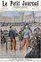 """Henri Meyer (1844-1899). """"Affaire Dreyfus-Zola. Grave incident d'audience entre le colonel Henry et le lieutenant-colonel Picquart"""". Gravure, """"Le Petit Journal"""", 27 février 1898. © Roger-Viollet"""