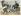 """Theodore Roosevelt (1858-1919), président des Etats-Unis et Edouard VII (1841-1910), roi d'Angleterre. Caricature de Leal da Camara (1877-1948). """"L'Assiette au beurre"""", 28 juin 1902. © Roger-Viollet"""