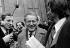 Maurice Druon (1918-2009), ministre des Affaires culturelles, à la sortie du Conseil des ministres. Paris, palais de l'Elysée, 1973.  © Jacques Cuinières/Roger-Viollet