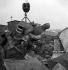 Guerre 1939-1945. Occupation. Destruction de statues pour récupérer les métaux. La statue d'Adolphe Thiers, homme politique français. Paris, 1941. © Pierre Jahan/Roger-Viollet