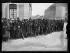 Guerre 1914-1918. Groupe de prisonniers allemands à Nancy, fin novembre 1918.  © Excelsior – L'Equipe/Roger-Viollet