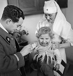 Guerre d'Espagne (1936-1939). Vaccination des enfants réfugiés en France. Février 1939. © Gaston Paris / Roger-Viollet