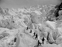 Ascent of the Grands-Mulets. Chamonix (France). © Neurdein / Roger-Viollet